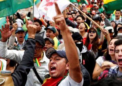 Contra el golpe en Bolivia